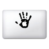 Hand Macbook Stickers on black vinyl | Laptop stickers | Macbook Decals - Influent UK