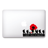 Lest We Forget Stickers Remembrance Day Sticker, Poppy Flower Decal, Car, Window, Fridge