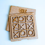 Laser cut Tic Tac Toe - Wooden Board Games for Children - Travel Games for Kids