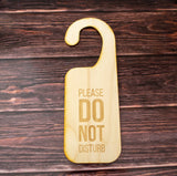 Do not disturb hotel door sign ply wood laser cut - Influent UK