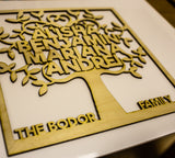 Laser Cut family tree decoration suitable for home decoration plywood 3 mm thick - Influent UK