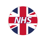 Thank you NHS UK FLAG - 38 mm button pin badge - NHS Rainbow