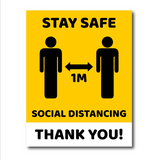 Keep distance - Social distancing 1 meter stickers - Social distancing sticker