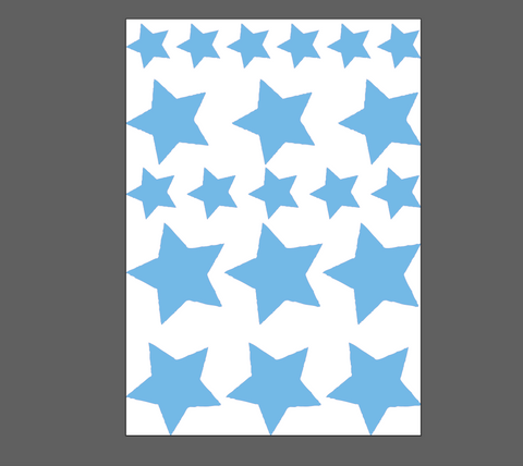 20 stars sticker easy to peel and apply on any dust free surface