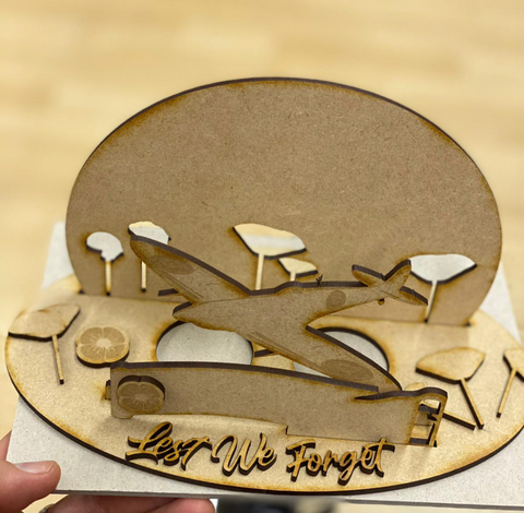 RAF MDF lamp laser cut holder