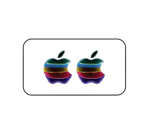Pack of 2 iPhone Apple Logo Sticker | iPhone Special Event Design for iPhone 11 release