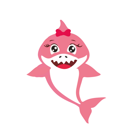 Baby shark - shark and more characters  - stickers for kids - Influent UK