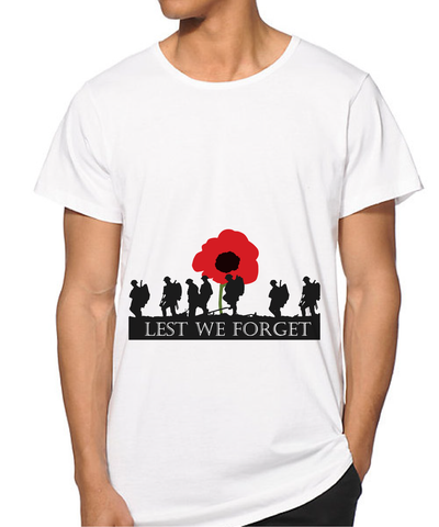 MEN Lest we forget T-shirt / Remembrance day T-shirt