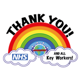 Thank you NHS and Key workers Custom laser cut rainbow -  plywood 3 mm