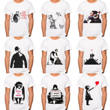 MEN Banksy Boy meets Girl T-shirt