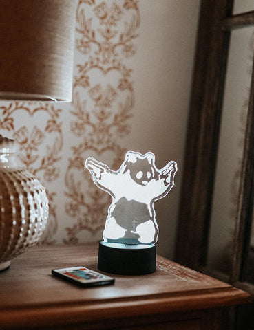Banksy Panda Acrylic Lamp Gift for Boys and Girls