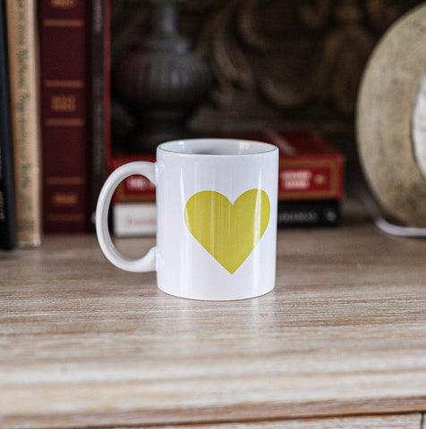Yellow Heart 11oz Mug Tribute Poignant Tributes To Loved Ones Taken Too Soon