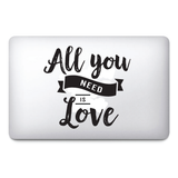 All you need is love / Valentines day stickers / Lover stickers / MacBook / Frid - Influent UK