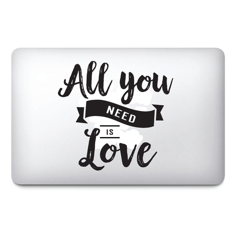 All you need is love / Valentines day stickers / Lover stickers / MacBook / Frid