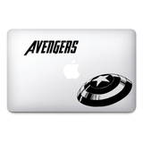 Avengers Macbook Stickers on black vinyl | Laptop stickers | Macbook Decals - Influent UK