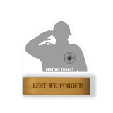 Lest we forget Remembrance day Soldier 3D Lasercut Acrylic Lamp