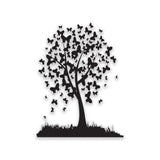 Black Butterfly Tree Design Self adhesive Sticker | Fridge, Wall Art Decor Decal - Influent UK