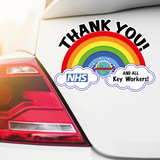 Thank you NHS and Key Workers RAINBOW sticker