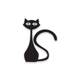 Cat Standing Fridge Stickers on black vinyl on A4 size - Kitchen Stickers - eyes - Influent UK
