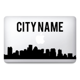 Custom city name Macbook Stickers on vinyl | Laptop sticker | City Decals