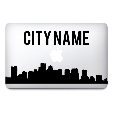 Custom city name Macbook Stickers on vinyl | Laptop sticker | City Decals - Influent UK