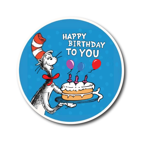 Happy Birthday Dr Seuss stickers - favourite Dr Suess stickers - Influent UK