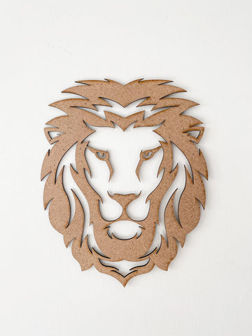 For boys and Girls Wood Laser cut MDF Lion Head - Perfect decoration for kids room