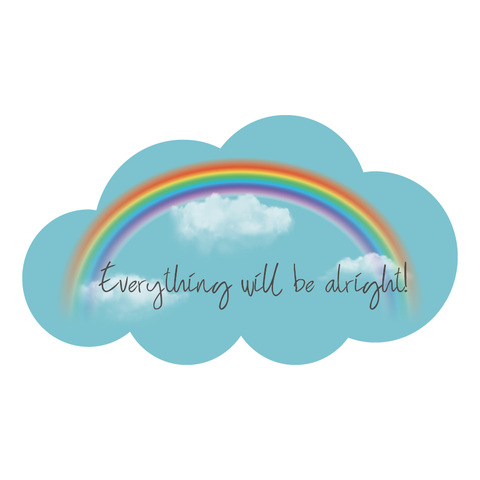 Everything will be alright - Andra tutto bene - stickers for outside window