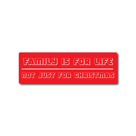 Car stickers Family is for life, not just for Christmas - Influent UK