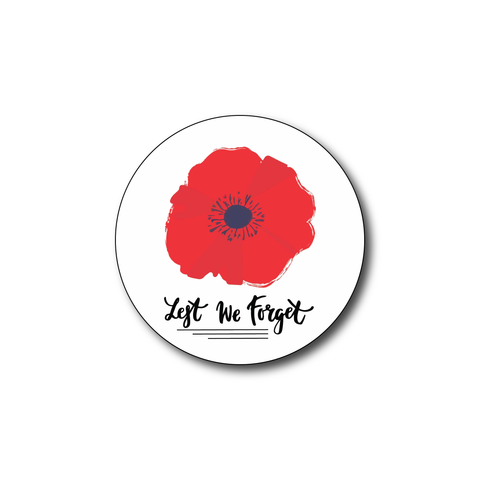 Remembrance Sunday Lest We Forget Remembrance Day Sticker, Poppy Flower, remembrance day