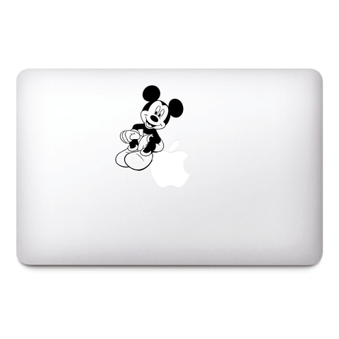 Mickey Mouse Macbook Stickers on black vinyl | Laptop stickers | Macbook Decals