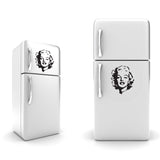 Marilyn Monroe Fridge sticker vinyl- A4 - art decor/ wall decor/ kitchen sticker - Influent UK
