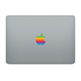 2 x Retro Apple Logo Design Decorative MacBook Laptop Clear Skin Sticker Decal - Influent UK