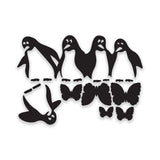 Funny Penguins Fridge Sticker on quality black vinyl | Kitchen Decorative Decal - Influent UK