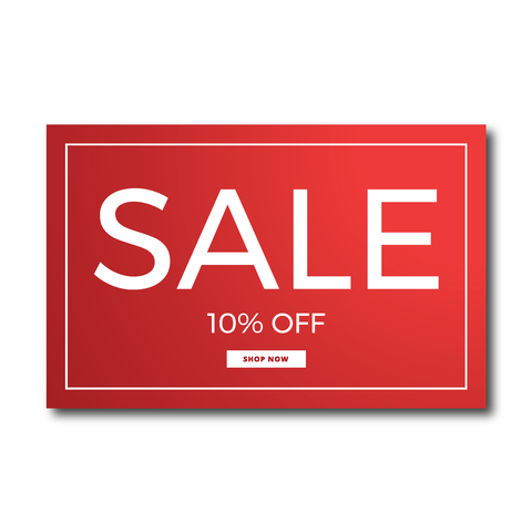 Custom sale stickers - custom percentage off offer - custom stickers, off, discounts, sales - corporate stickers - Influent UK