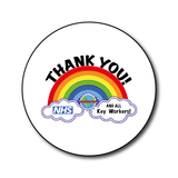 Thank you NHS and all other Key workers - Large button pin badge - NHS Rainbow