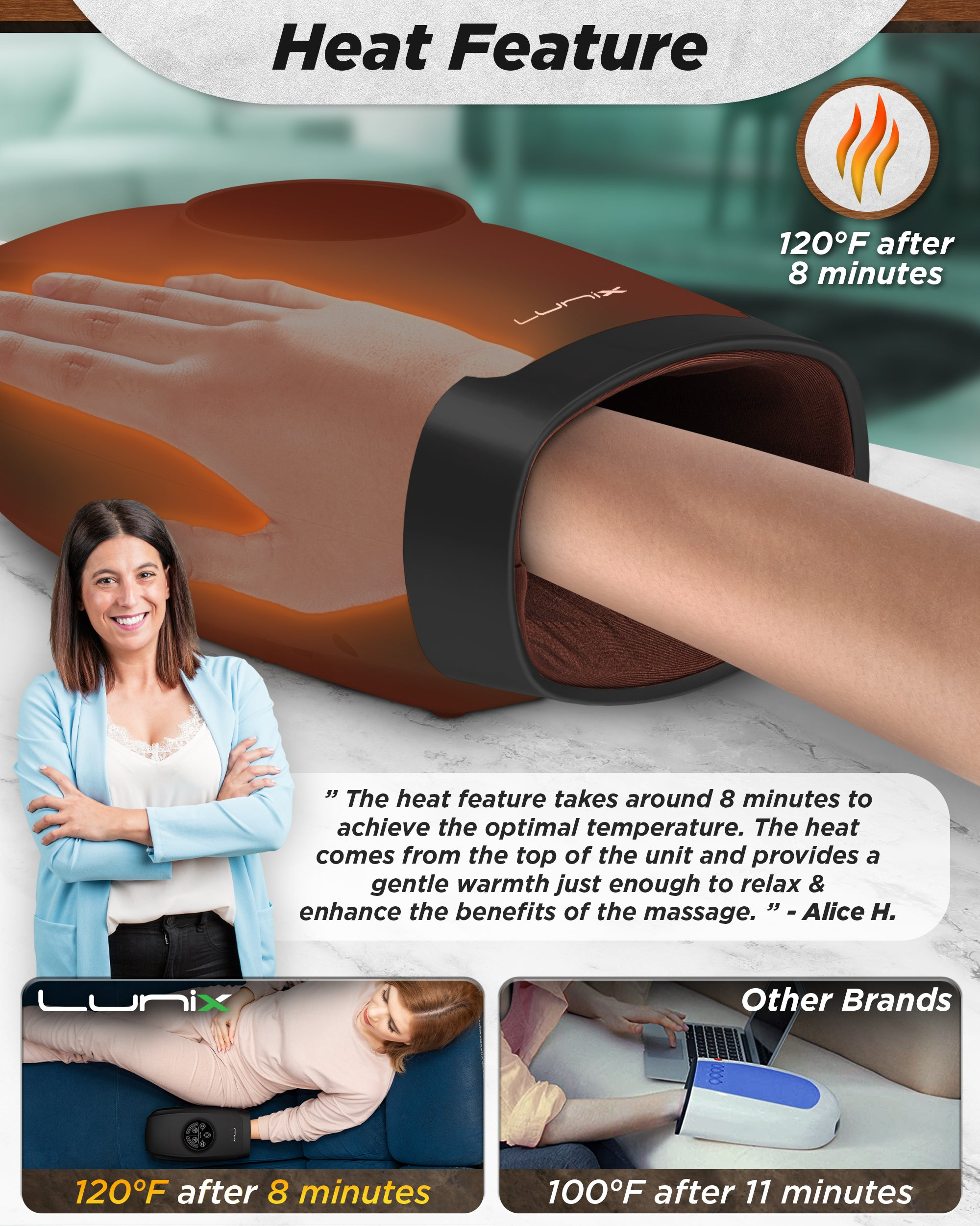 Lunix LX3 Cordless Hand Massager Black