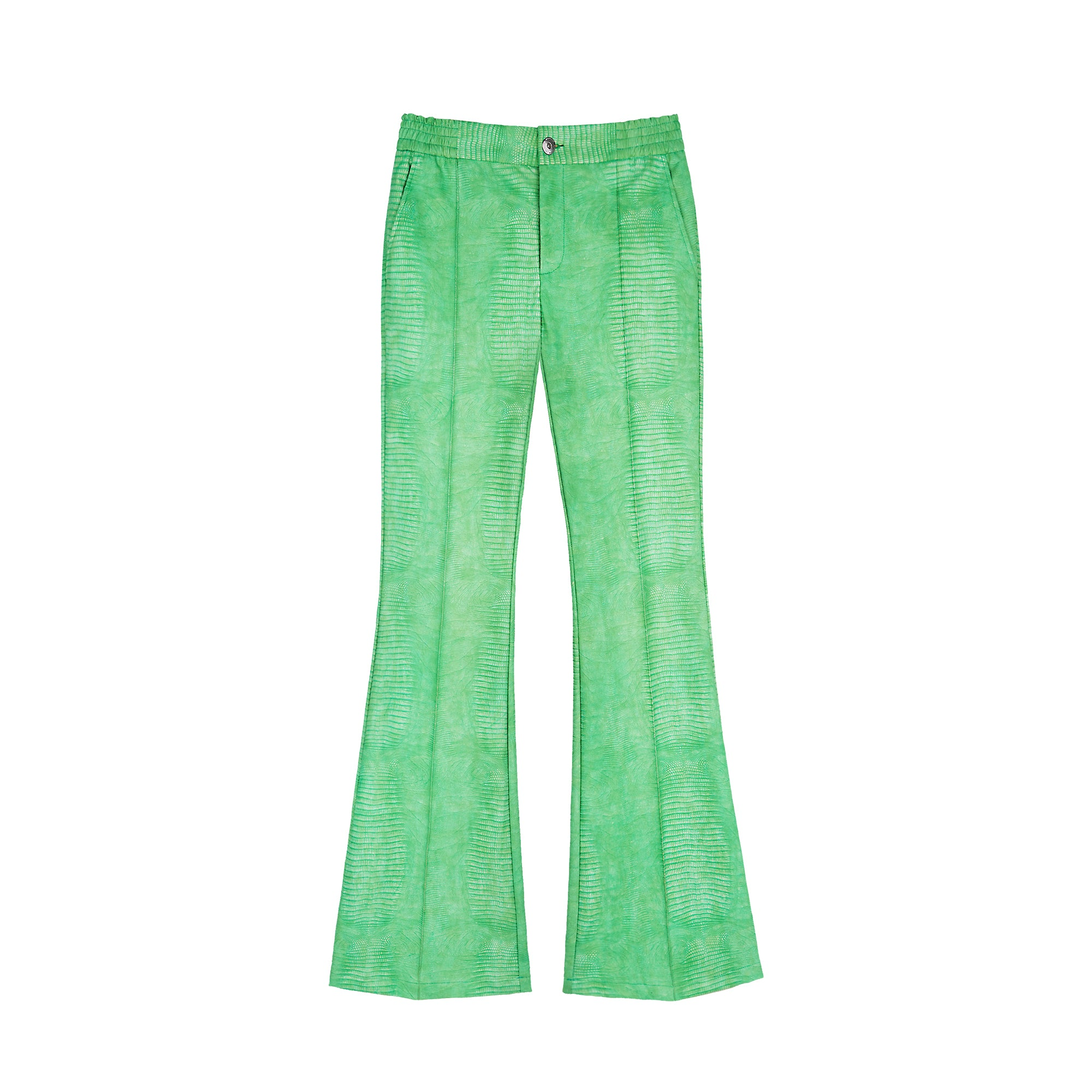 NUTEMPEROR Z Project 0002 green lizard skin slim flared pants 4026525469127 4026525469128