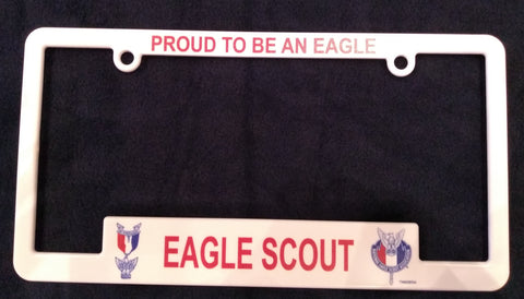 "Eagle Scout License Plate Frame  ""Proud To Be An Eagle"""