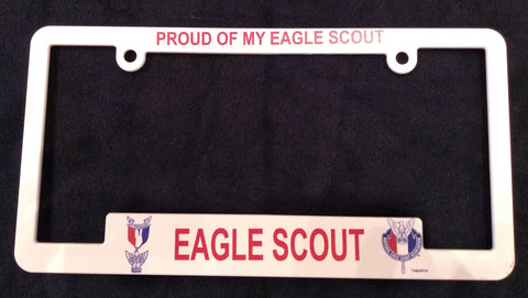 "Eagle Scout License Plate Frame ""Proud Of My Eagle Scout"""