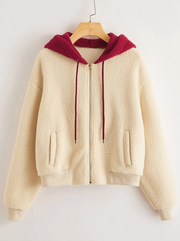 Zip Up Hooded Teddy Jacket