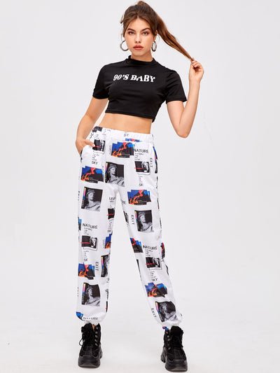 Figure Graphic Joggers