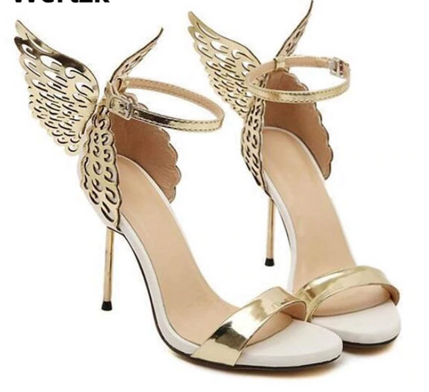2019 Brand women pumps Butterfly high heel pumps shoes for women sexy peep toe high heels sandals party shoes woman E225