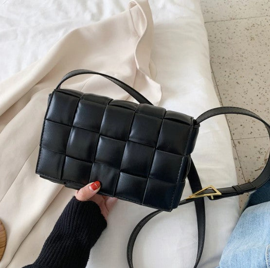 Small Weave Flap Bags For Women 2020 New Good Quality Fashion PU Leather Shoulder Crossbody Bag Female Handbags sac a main femme