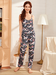 Unicorn Print PJ Set & Eye Cover
