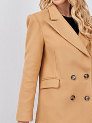 Peak Collar Double Button Blazer