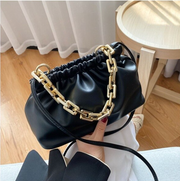 Golden Chain Pleated PU Leather Shoulder Bag Bags For Women 2020 New Messenger Bag Fashion Purses And Handbag Bolsos Para Mujer