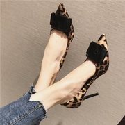 Rimocy sexy ladies pointed toe leopard pumps 2019 spring feshion thin high heels slip on party wedding shoes woman sandals mujer