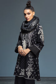 Nishat 41901126-Khaddar & Karandi – Black Digital Printed 3PC