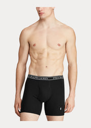RALPH LAUREN COTTON STRETCH BOXER BRIEF - PACK OF 3